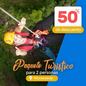 Paquete turístico a Monteverde Extremo park 50% de descuento