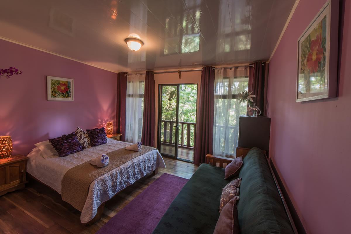 Habitación hotel los jardines de monteverde rosa