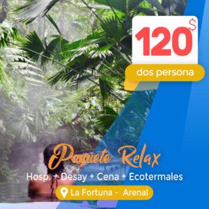 Paquete Relax Las Colinas en La Fortuna – Arenal