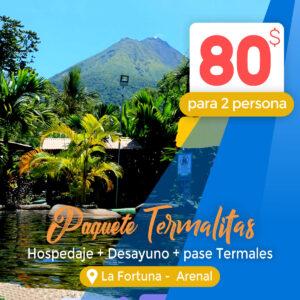 Paquete Termalitas Hotel Las Colinas en La Fortuna – Arenal
